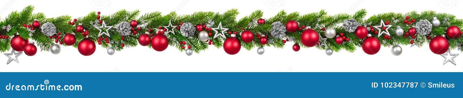 Beira no branco, festão decorada de suspensão do Natal