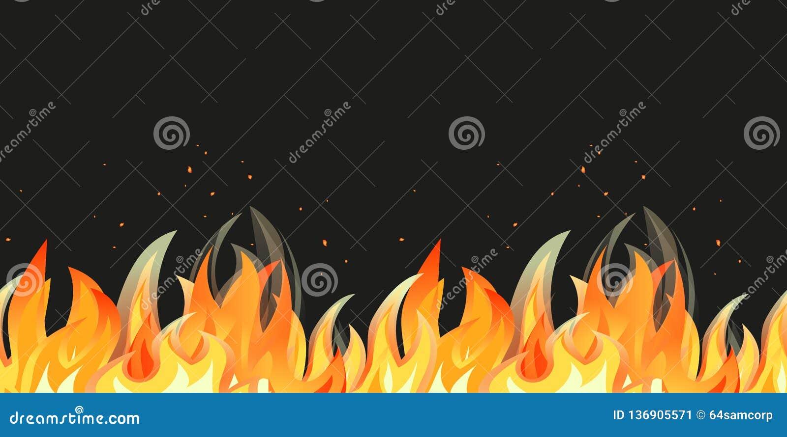 Beira sem emenda do teste padrão da chama