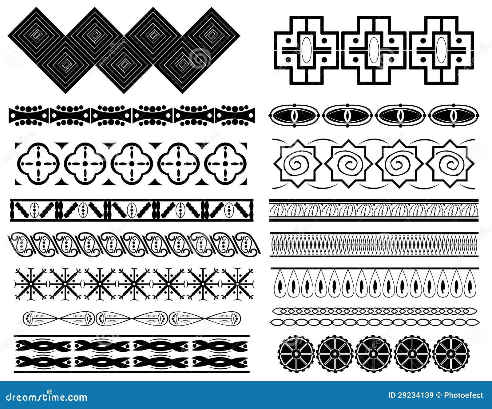 Download Beiras abstratas do vetor ilustração do vetor. Ilustração de gráfico - 29234139