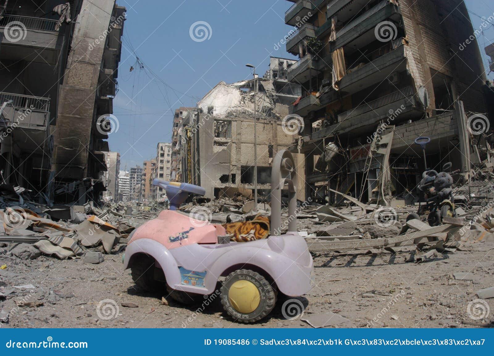 Beiroet onder het Bombarderen