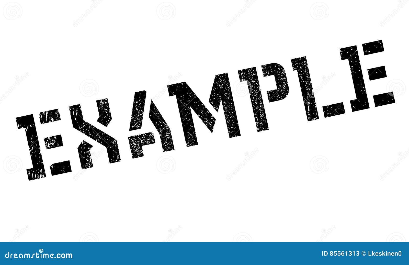 Beispielstempel