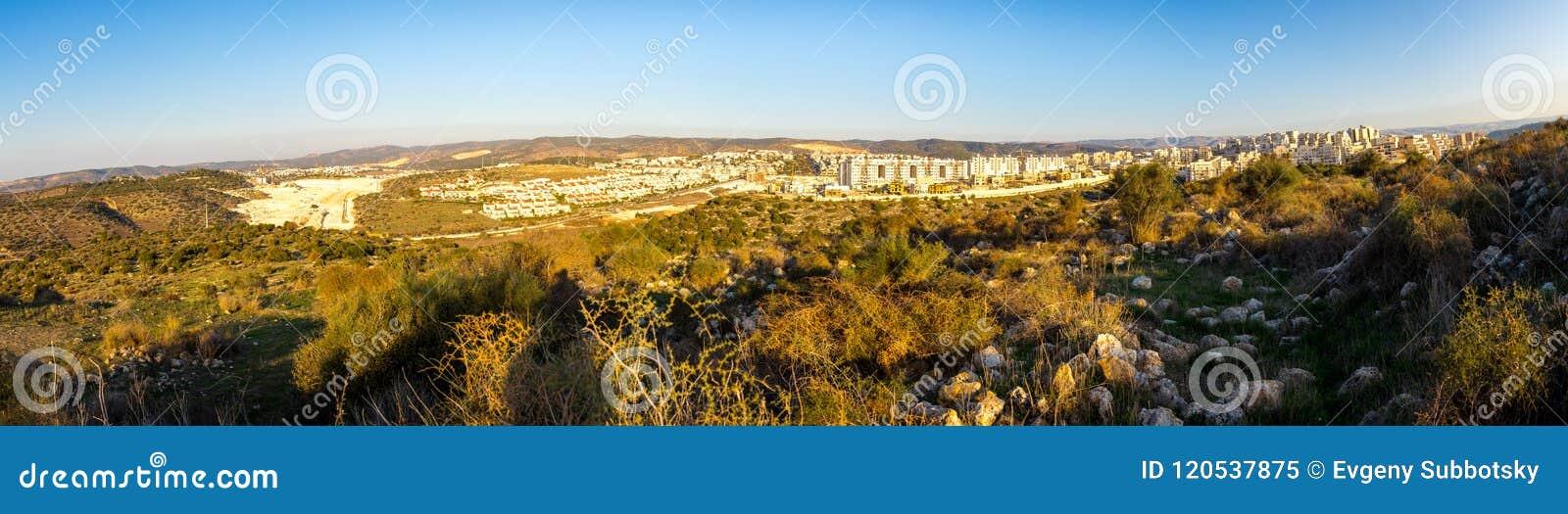 Maximillian Shemesh: Beit Shemesh City Buildings Panorama. Stock Image