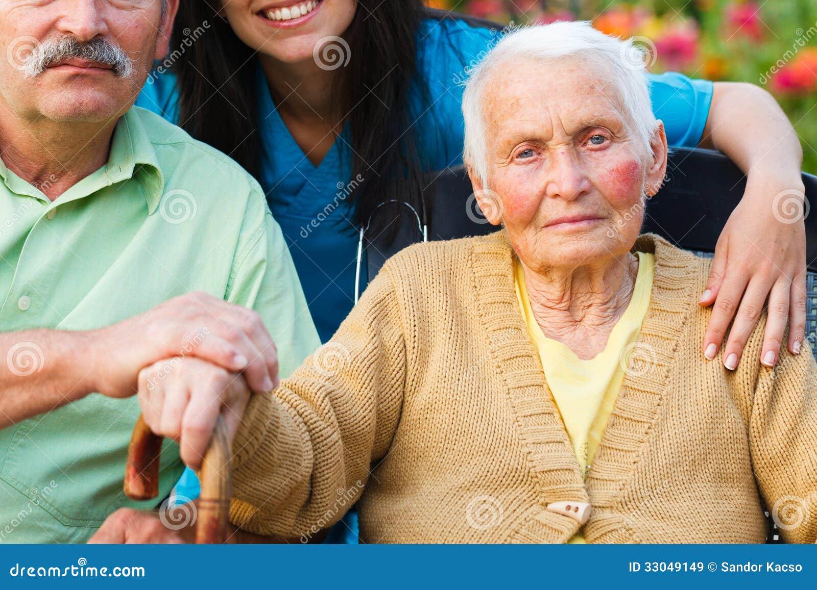 Bejaarde Dame met de Ziekte van Alzheimer