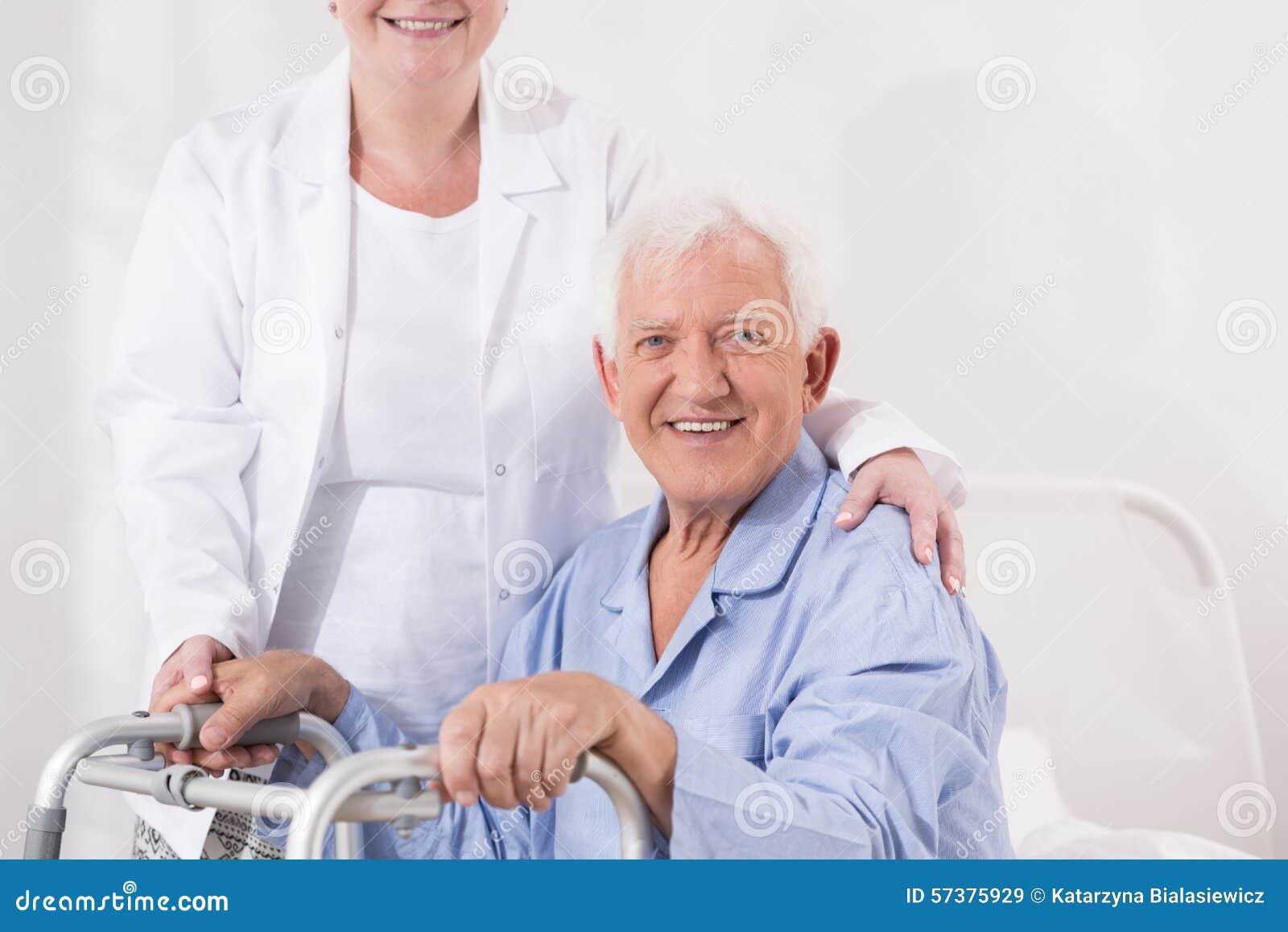 Bejaarde met handicap