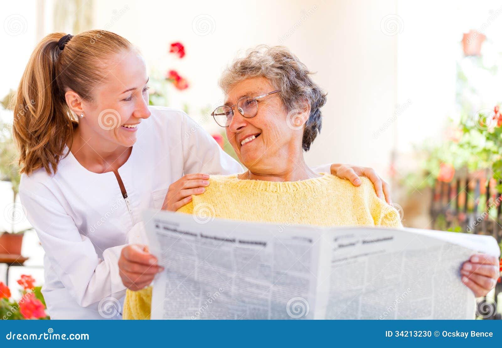 Bejaarde thuiszorg