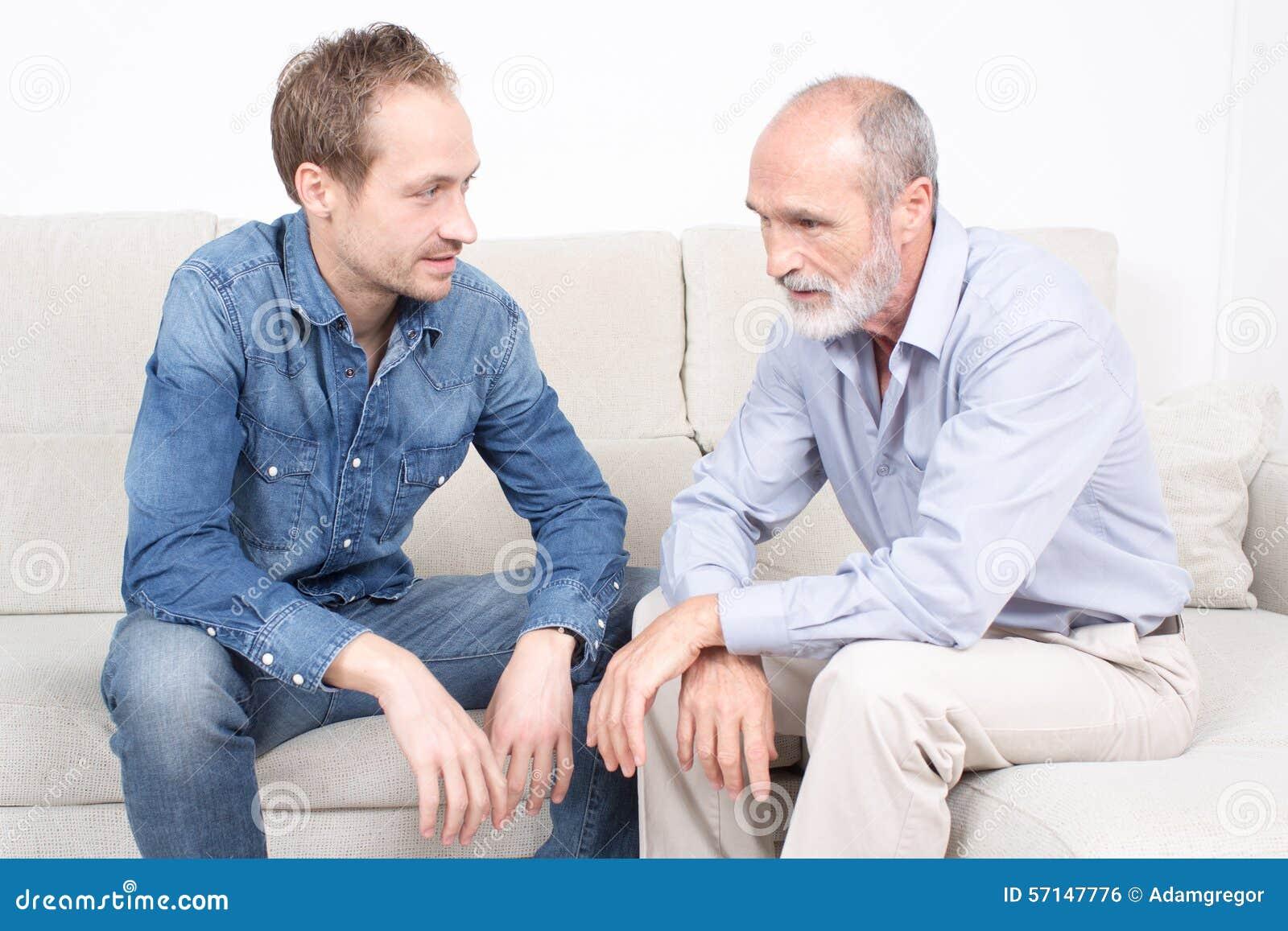 Daterend vader en zoon