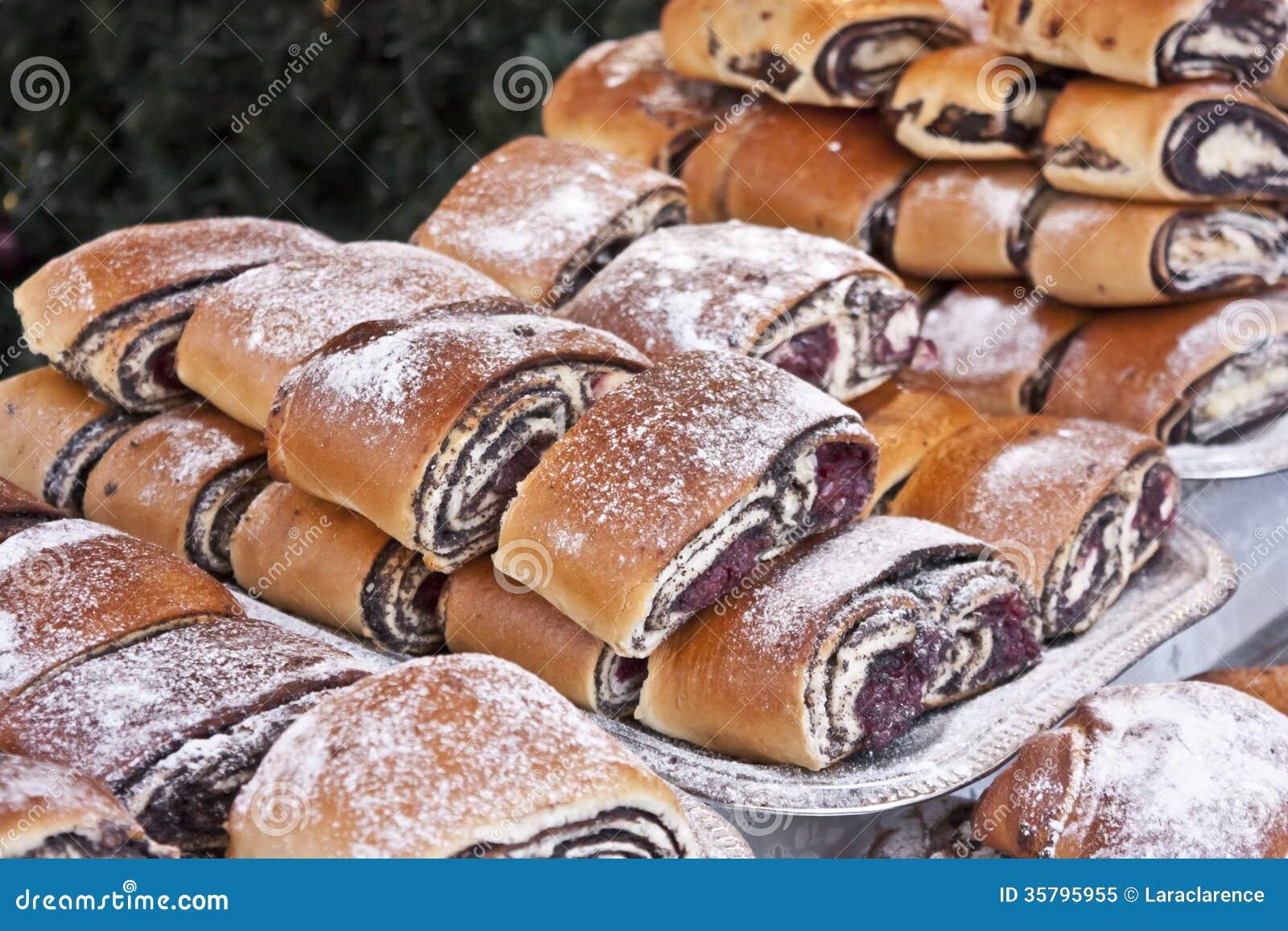 Bejgli - traditional hungarian christmas cake
