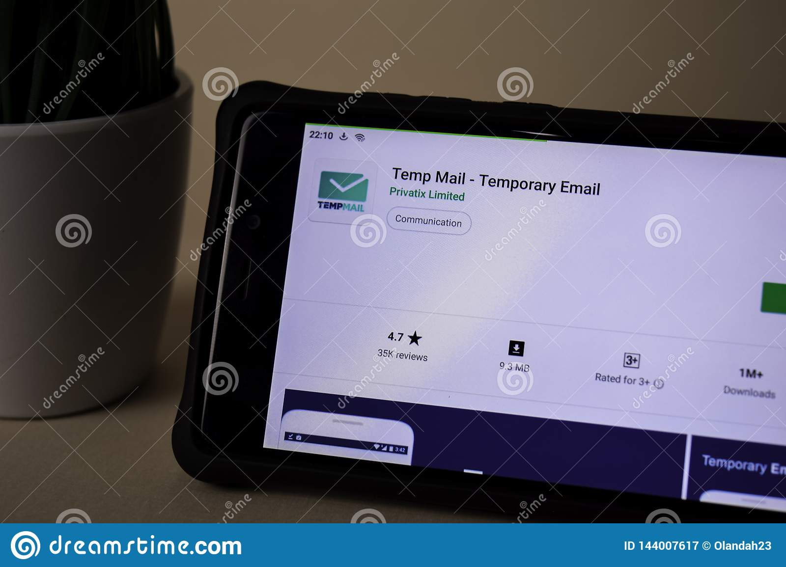 Temp Mail - Temporary Email Dev Application On Smartphone Screen