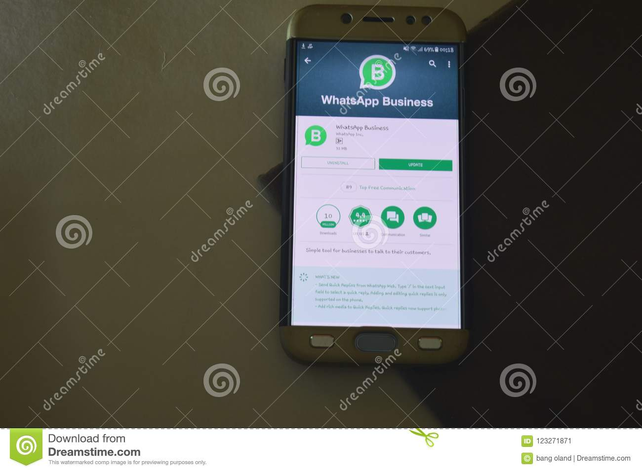 WhatsApp Business App On Smartphone Screen  Editorial Photo - Image