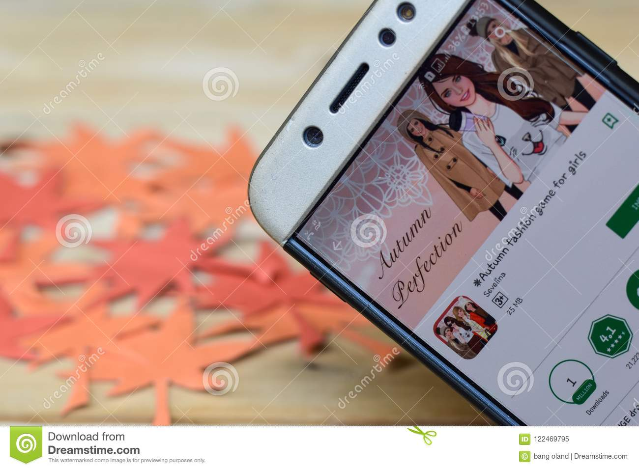 Autumn Fashion Game For Girls App On Smartphone Screen