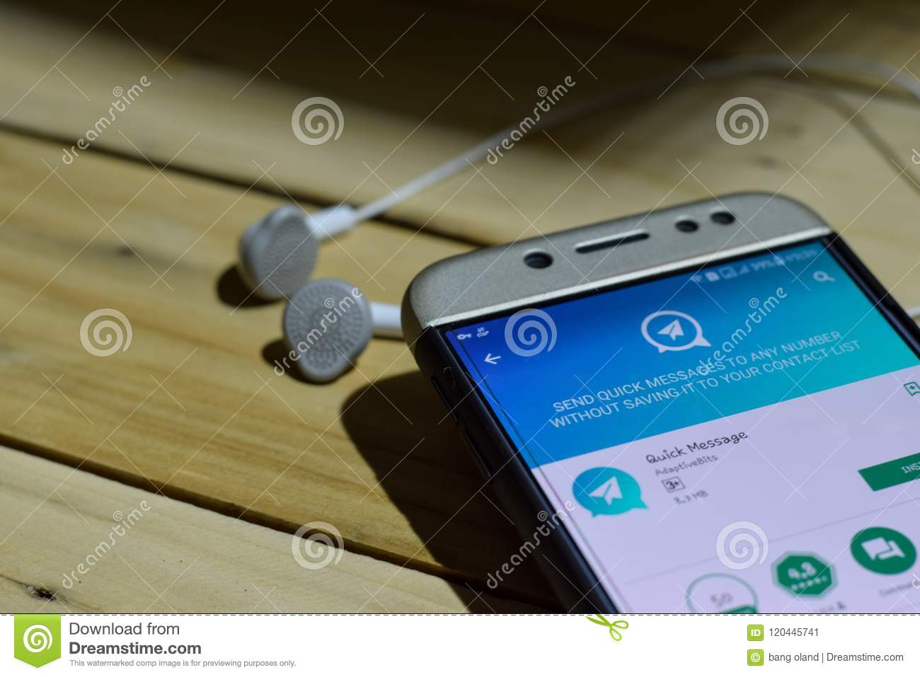 Quick Message Dev Application On Smartphone Screen Editorial Photo