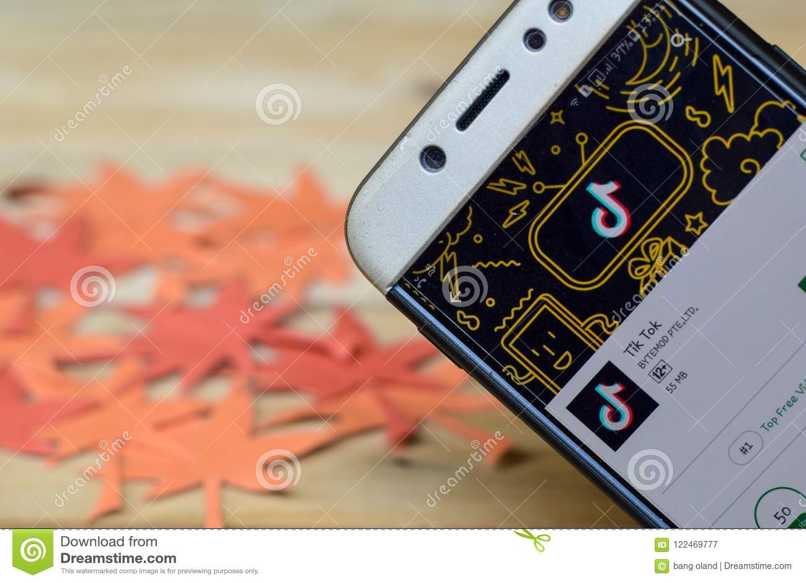 Tik Tok App On Smartphone Screen  Editorial Photography