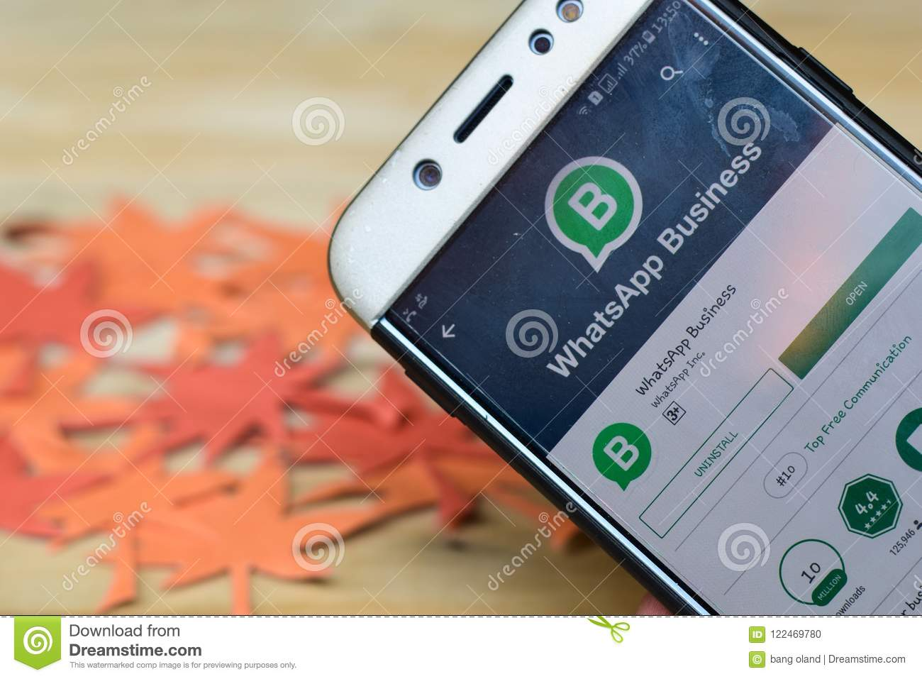 WhatsApp Business App On Smartphone Screen  Editorial Image - Image