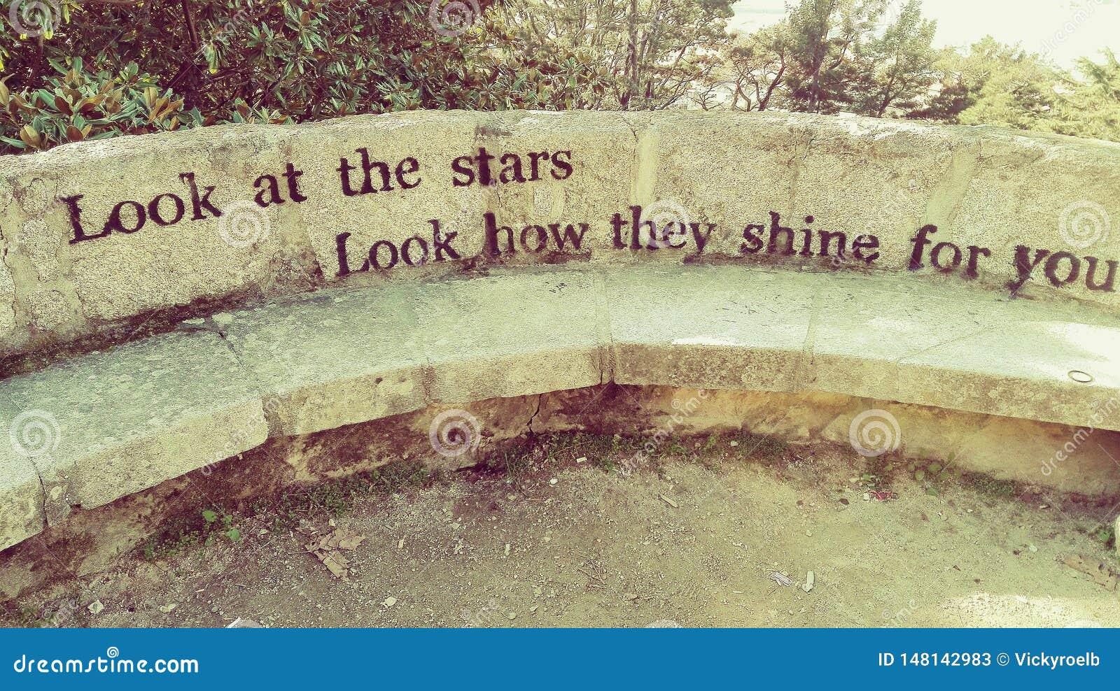 Bekijk de sterren, kijken hoe zij voor u glanzen