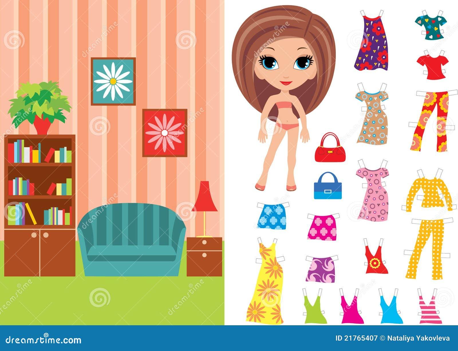 Beklär paper lokal för dockan