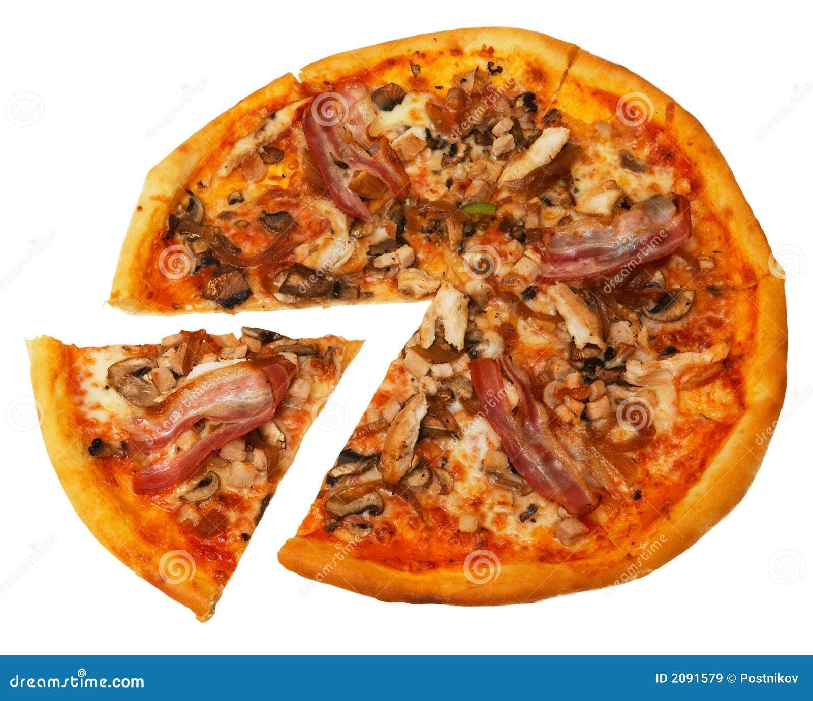 Bekon odizolowana pizza