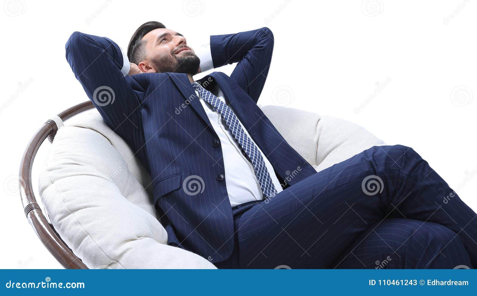 Bekväm stol för affärsmanrelaxarea