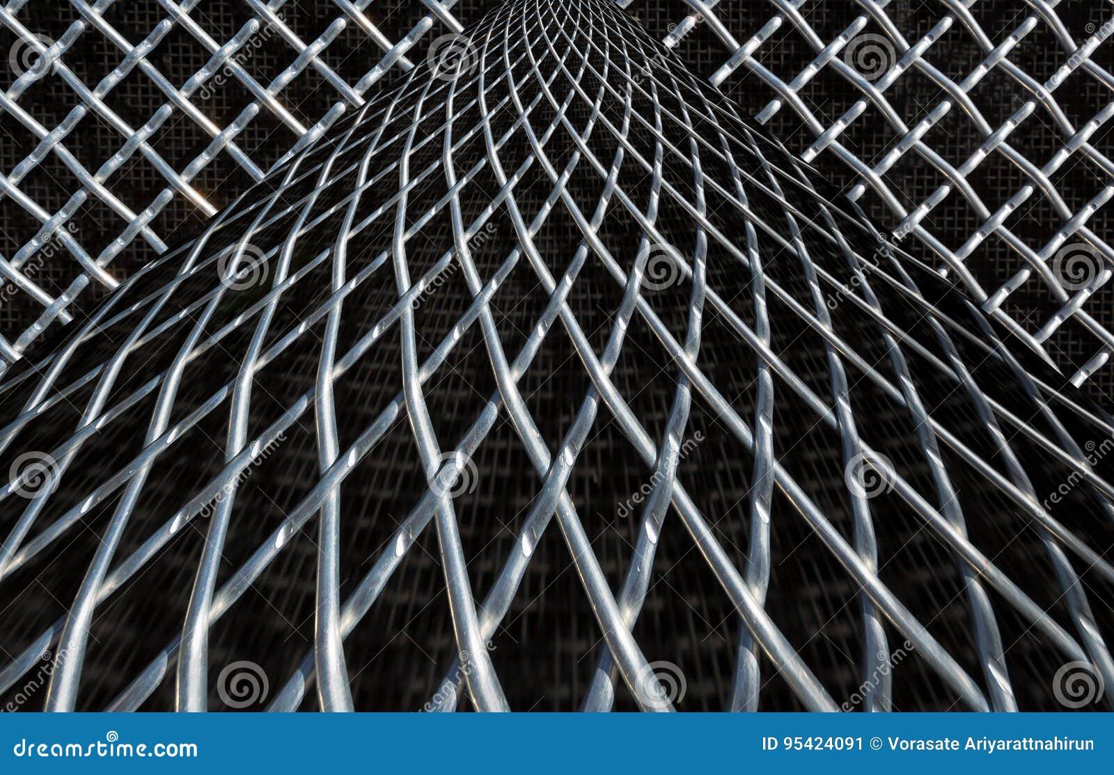 Belägga med metall ingrepps- eller aluminiumrastret på svart bakgrund