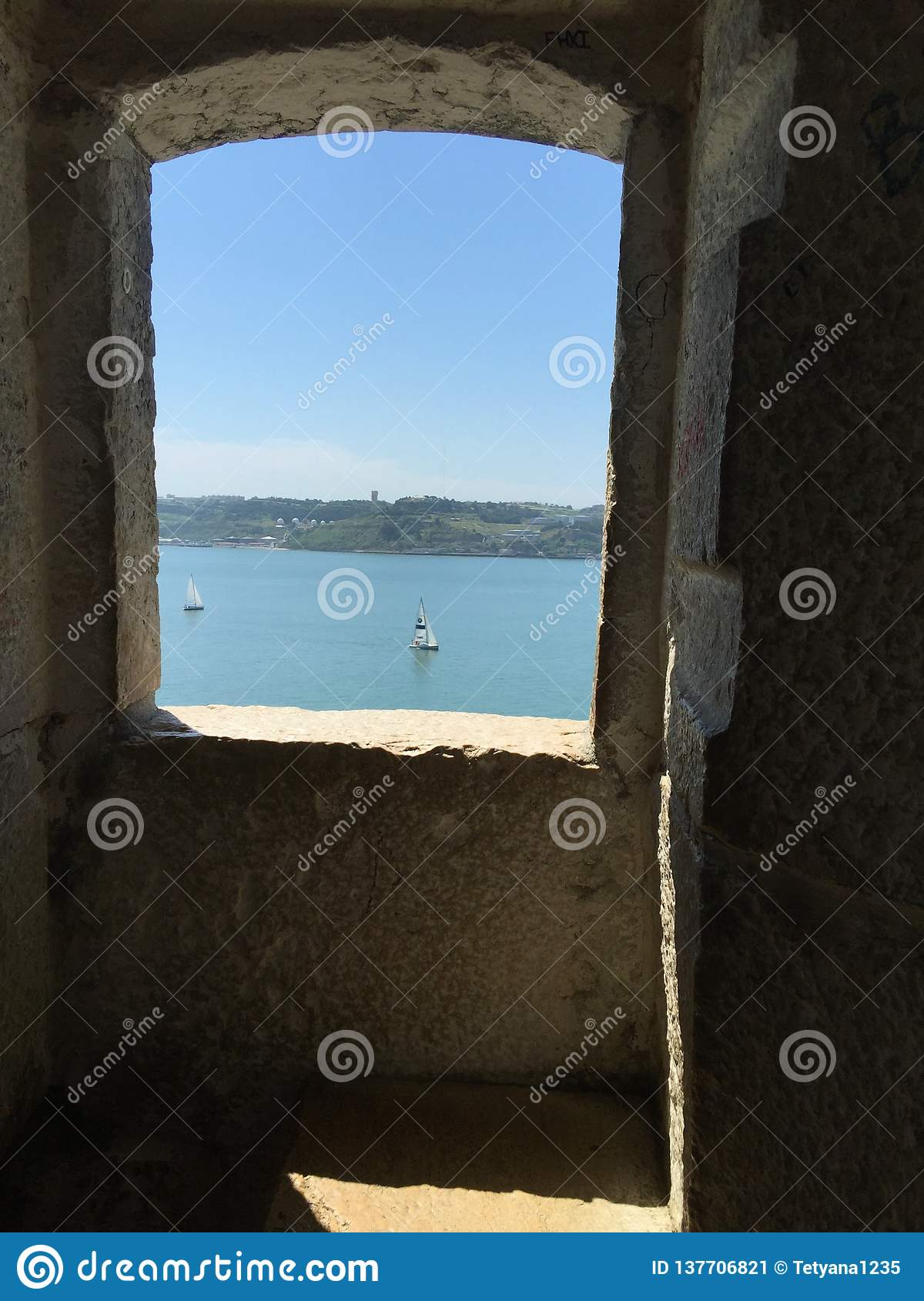Belém Tower, or the `Tower of St Vincent`- window