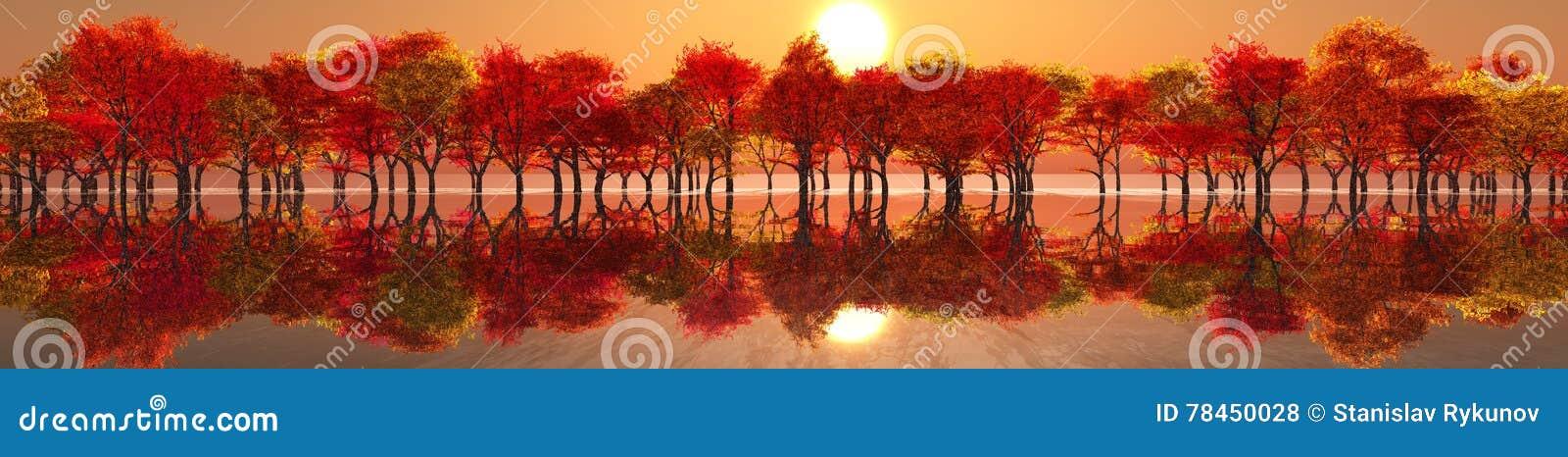 Bel horizontal d automne