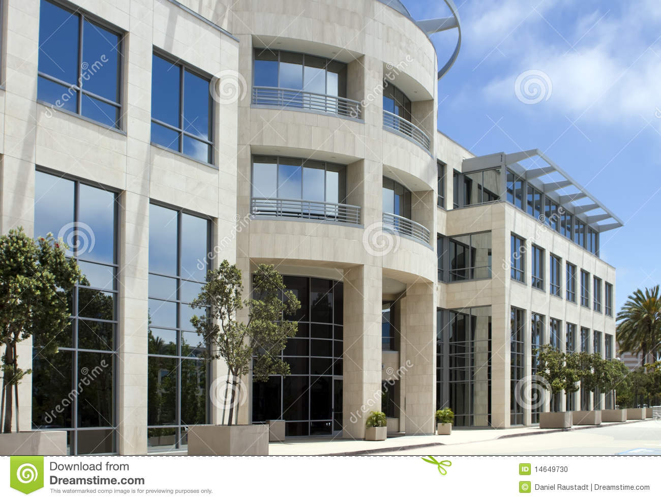 Bel immeuble de bureaux de corporation en californie photo for Immeuble bureau plan
