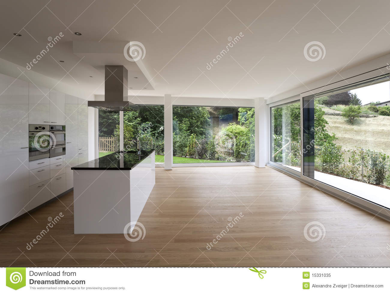 Bel int rieur d 39 une maison moderne image stock image for Interieur de maison contemporaine