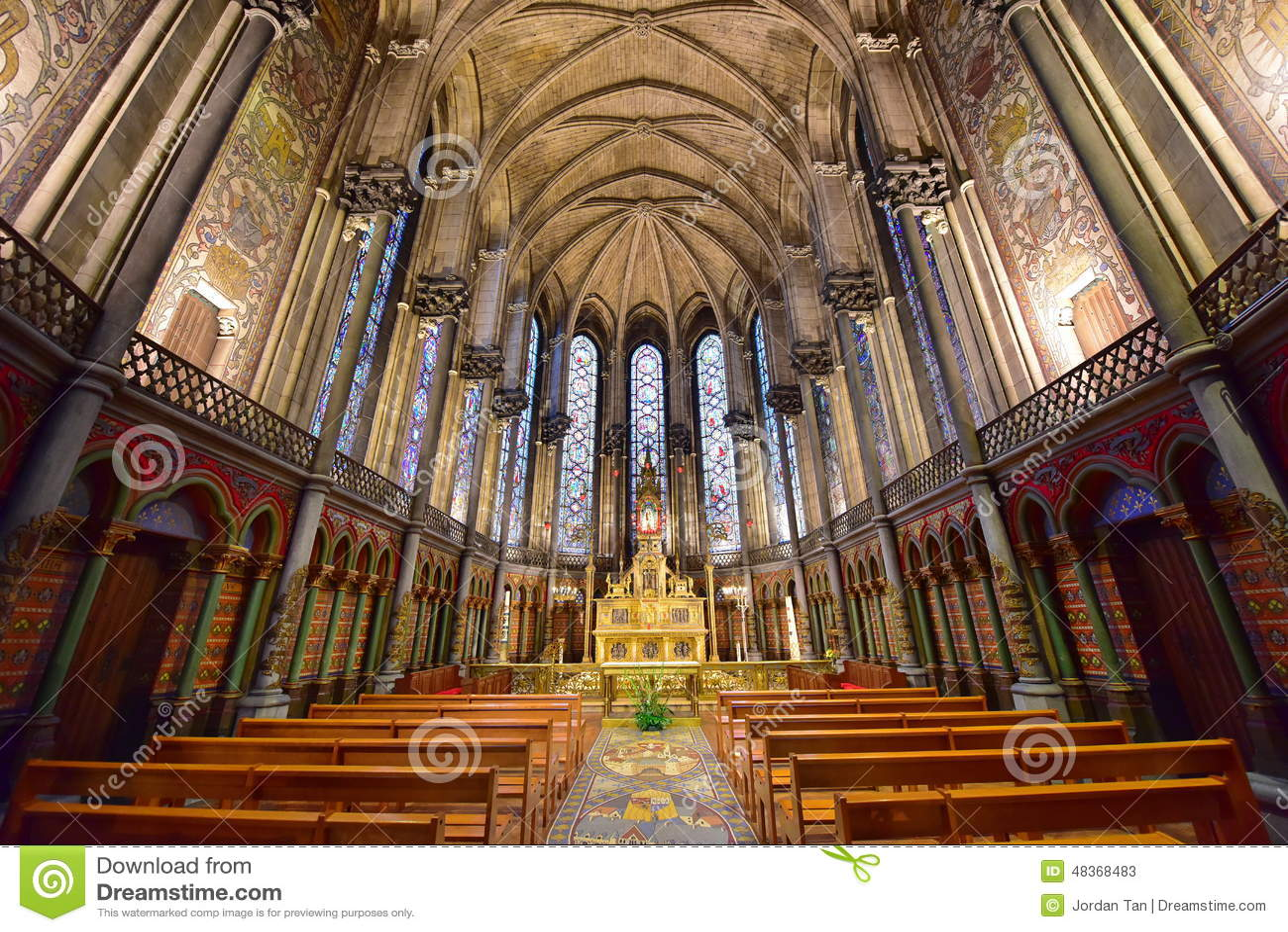 Bel int rieur de la basilique de notre dame de la treille photo stock ditorial image 48368483 - Lille notre dame de la treille ...