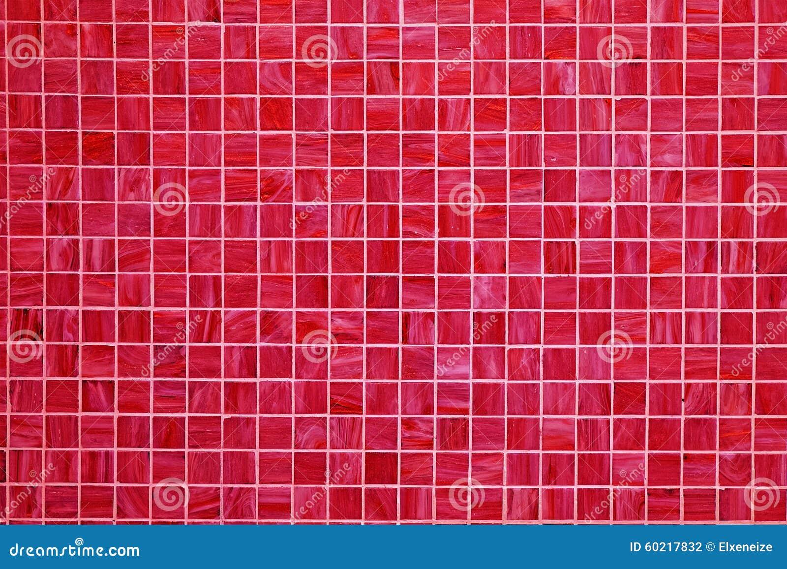 Belagd med tegel bakgrund för röd fyrkant arkivfoto   bild: 60217832