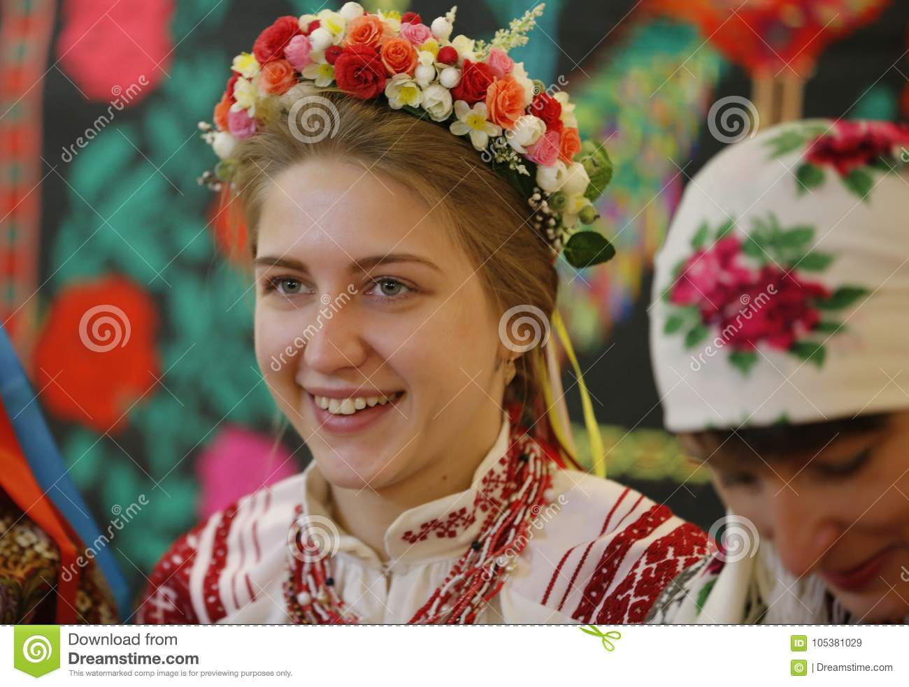 Ethnic Belarusian Bride editorial stock image  Image of
