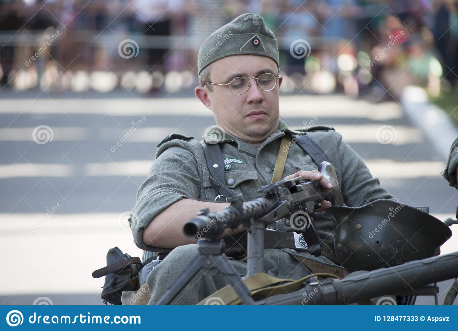 Portrait of a German soldier Stock Photo - Alamy