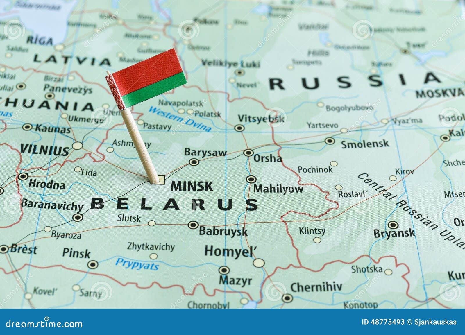 Belarus Map Flag Pin Stock Photo Image - Belarus map