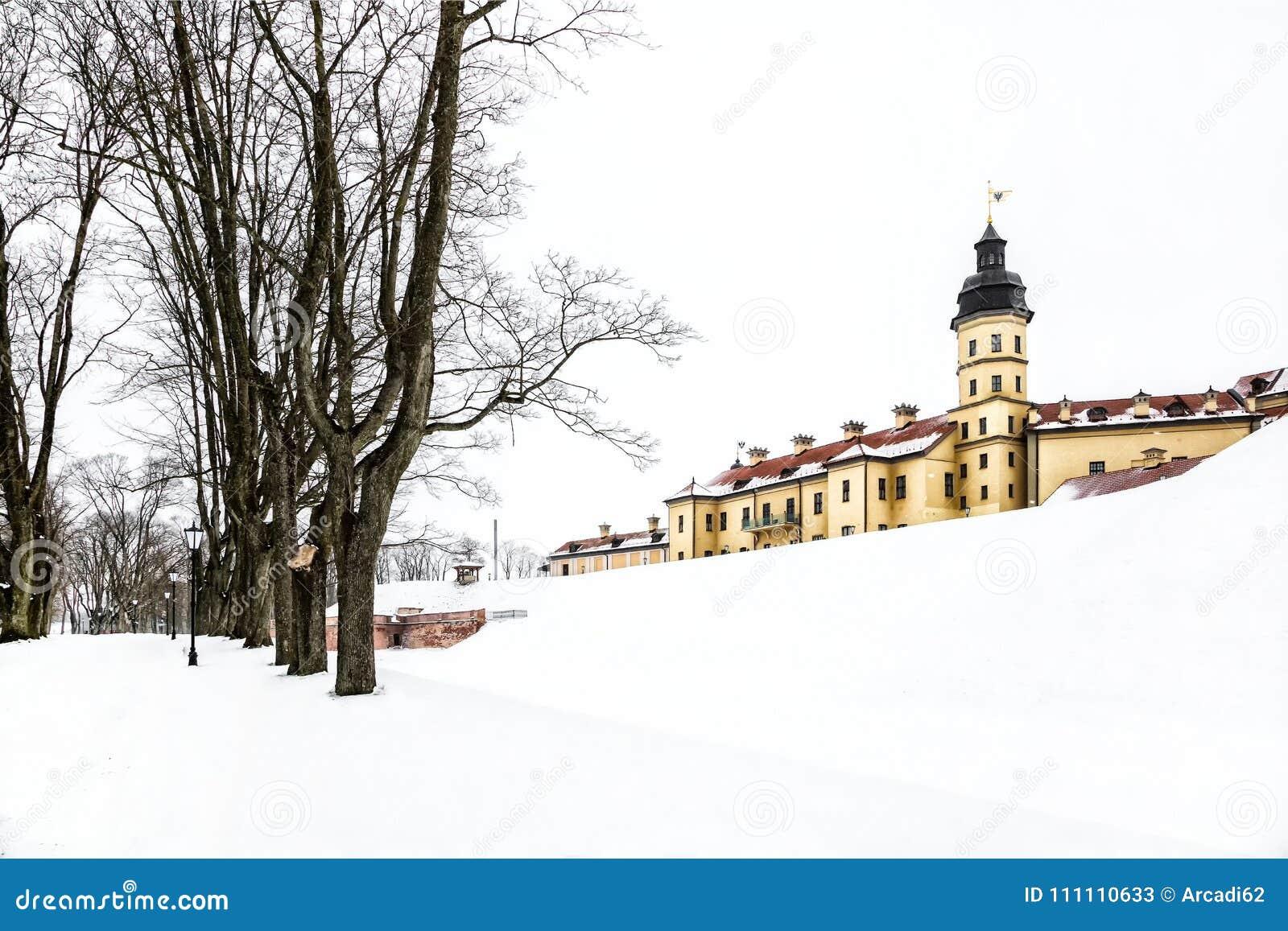 Nesvizh Castle. winter