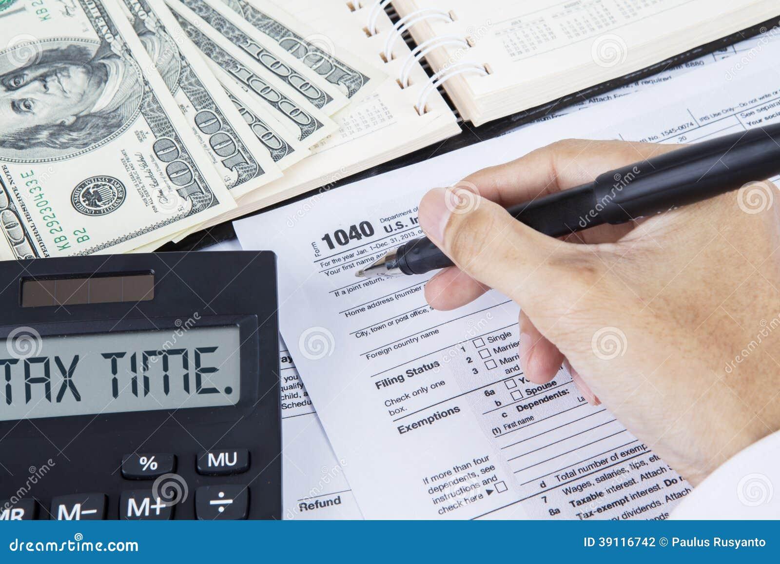 Belastingstijd voor het betalen van belasting