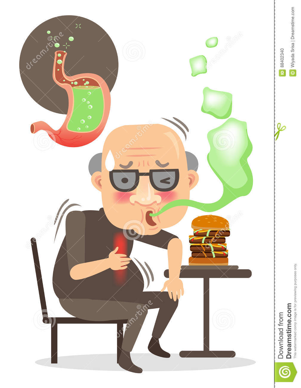 Belch Stock Vector Illustration Of Belch Burping Breathe 88402340