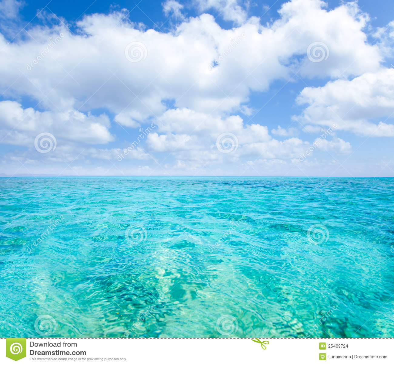 Belearic islands turquoise sea under blue sky stock images - Pintura azul turquesa ...