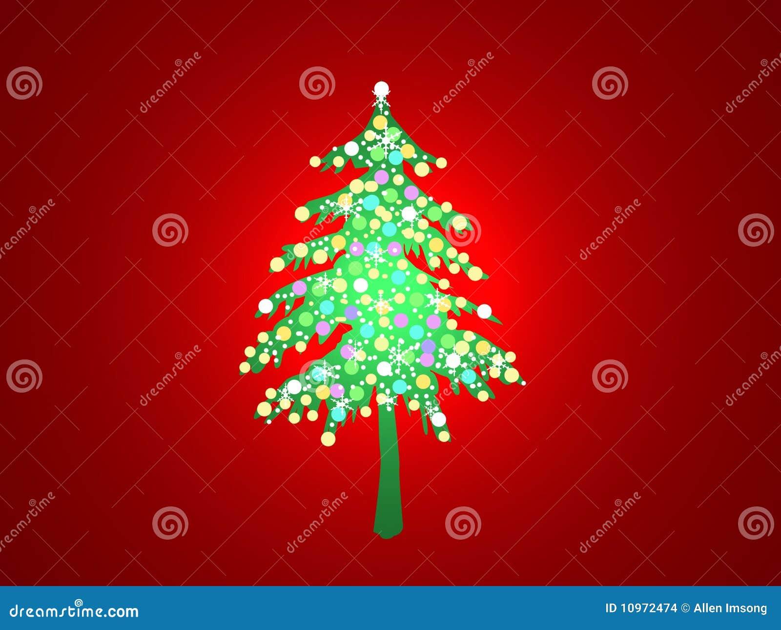 Beleuchteter Weihnachtsbaum Stock Abbildung - Illustration von ...