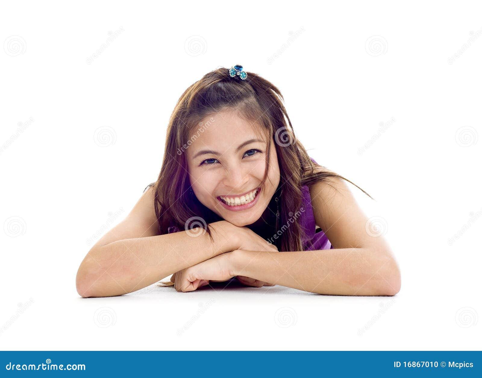 Beleza asiática muito feliz
