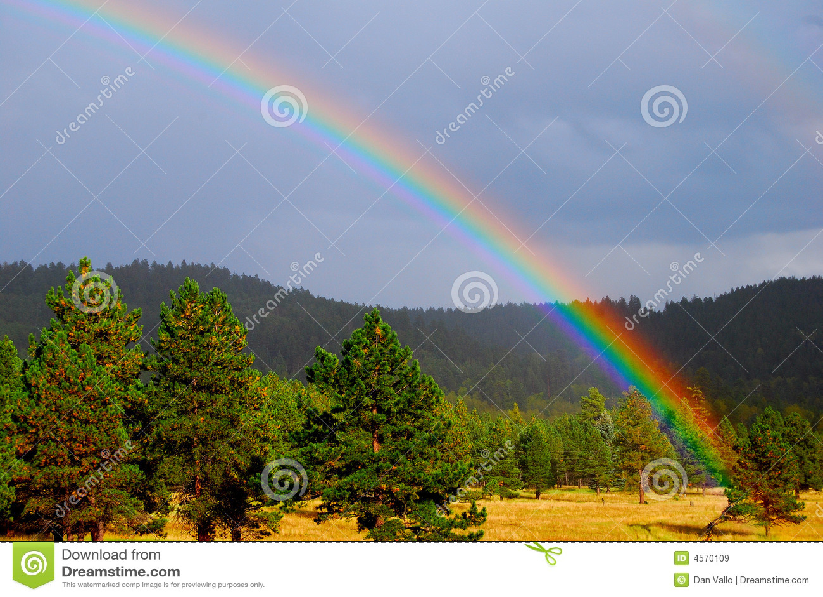 Beleza das naturezas do arco-íris