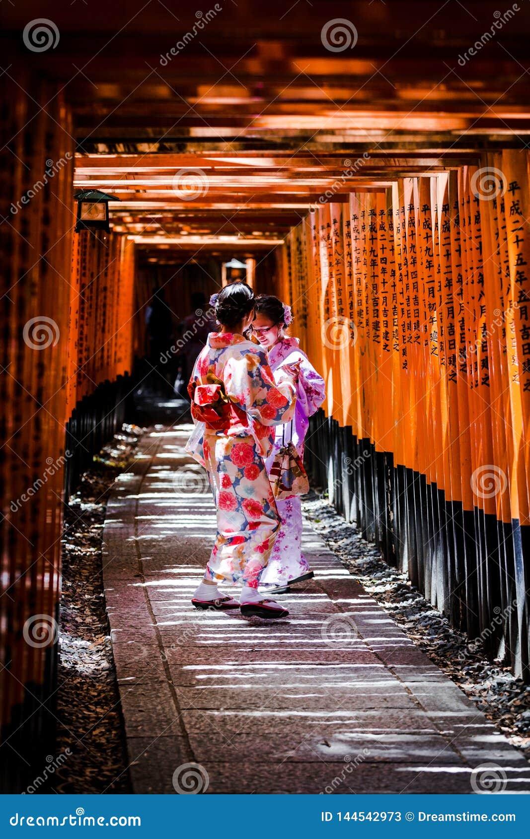 Beleza do quimono de Kyoto