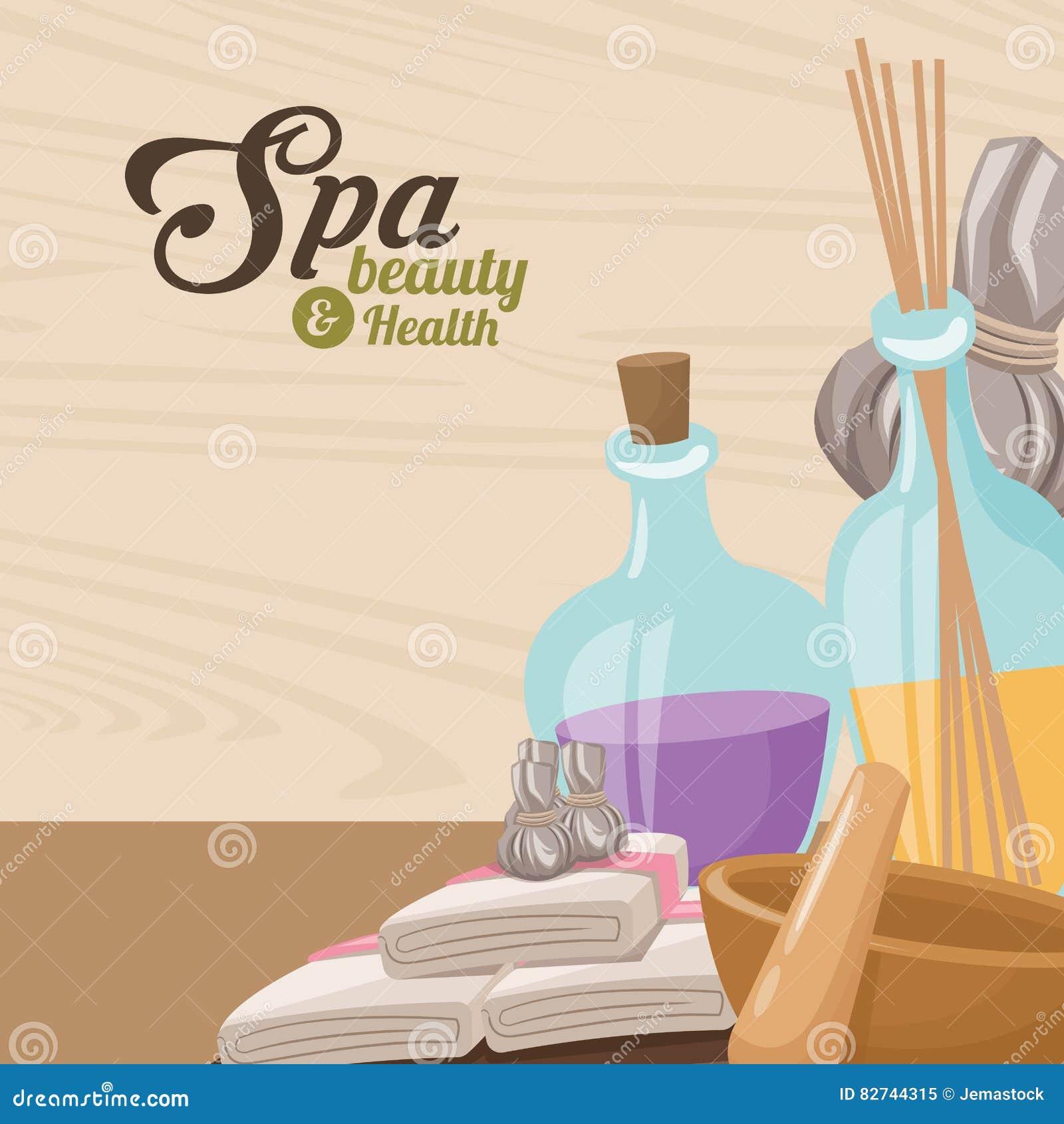 Beleza dos termas e terapia do aroma de toalha da saúde erval