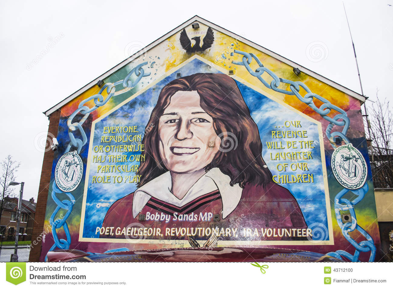 Belfast murals bobby sands editorial image image 43712100 for Bobby sands mural
