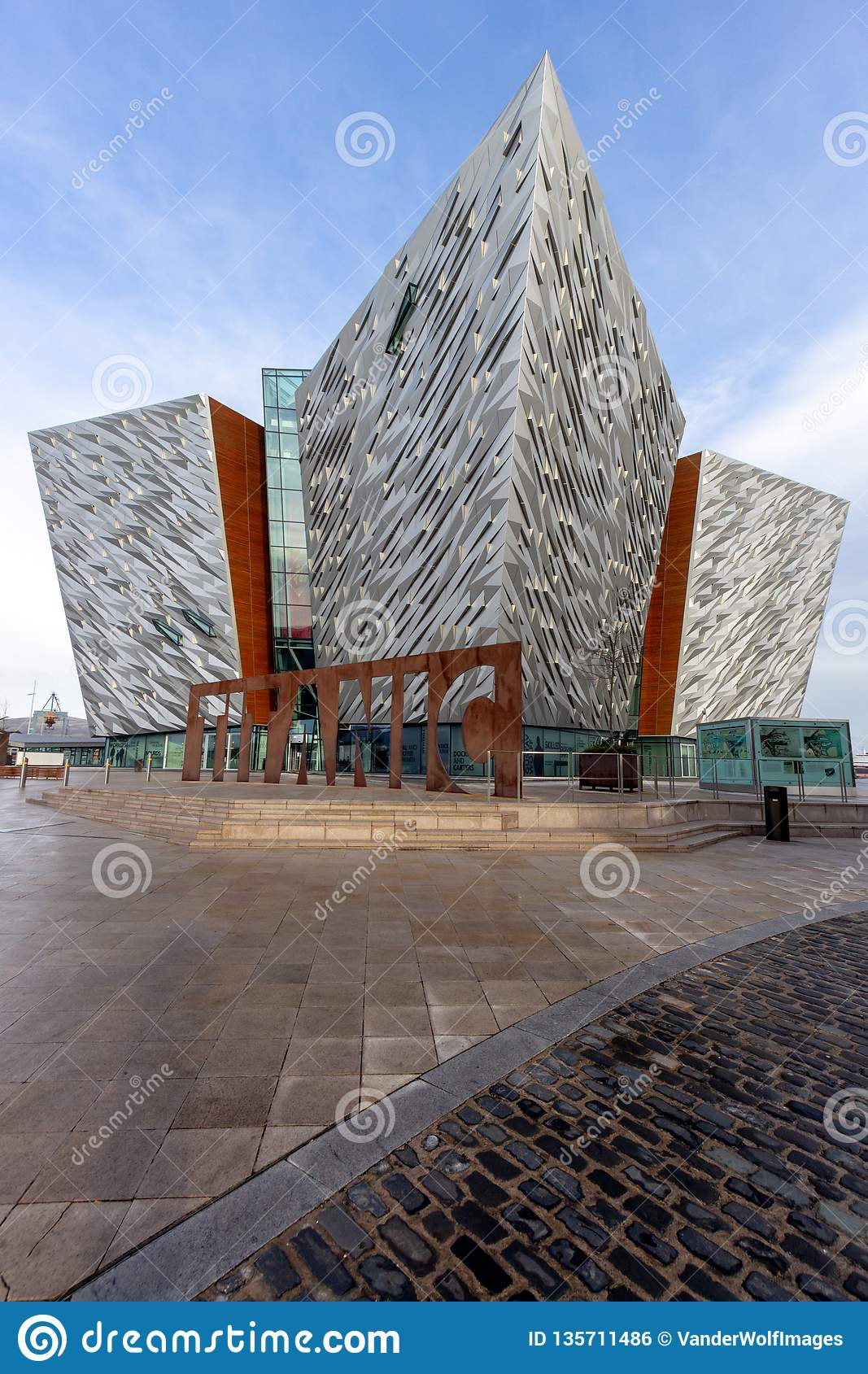 Titanic Belfast visitor attraction and a monument