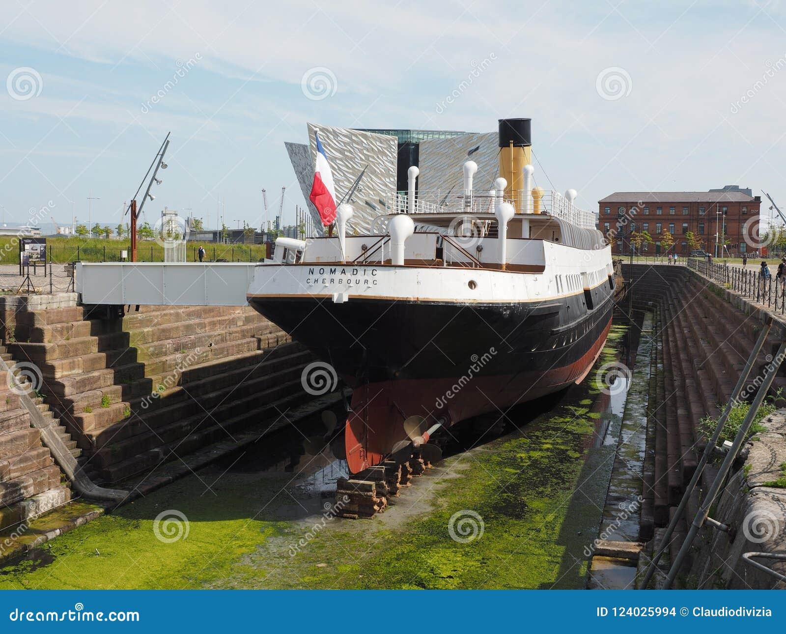 SS Nomadic Titanic tender boat in Belfast