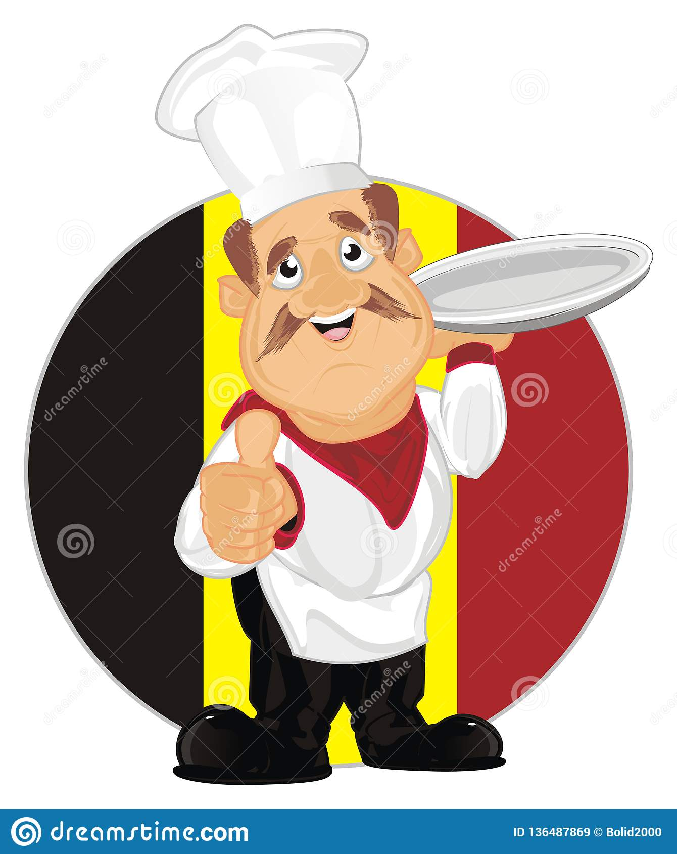 Belgia kucharz i foods