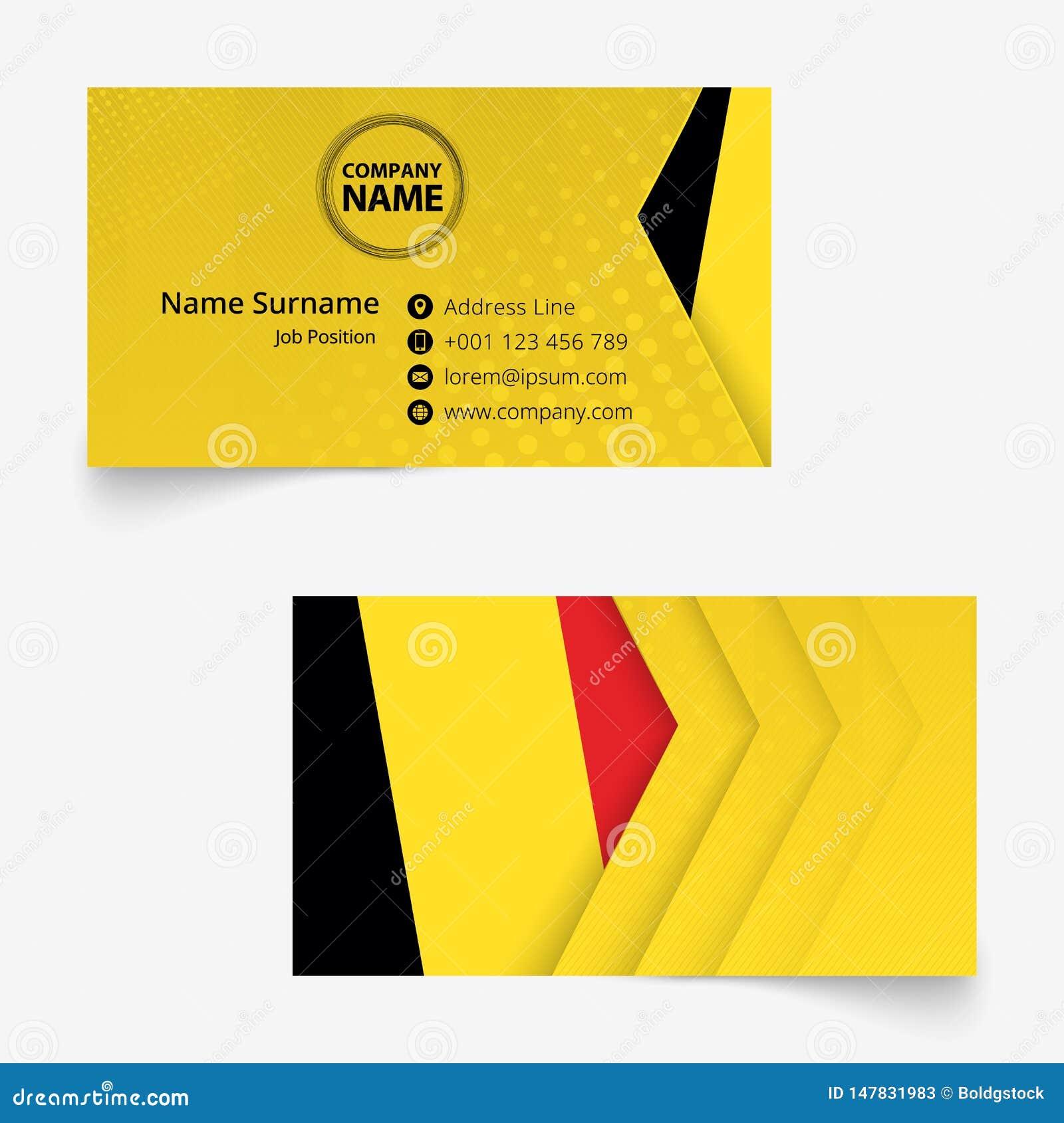 Belgia Zaznacza wizytówkę, standardowego rozmiaru 90x50 mm wizytówki szablon