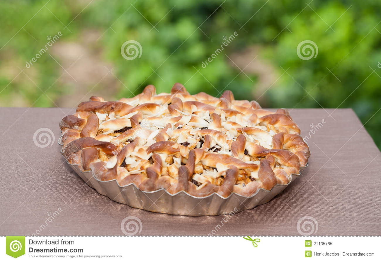 Belgian Apple Raisin Pie Stock Image Image Of Garden