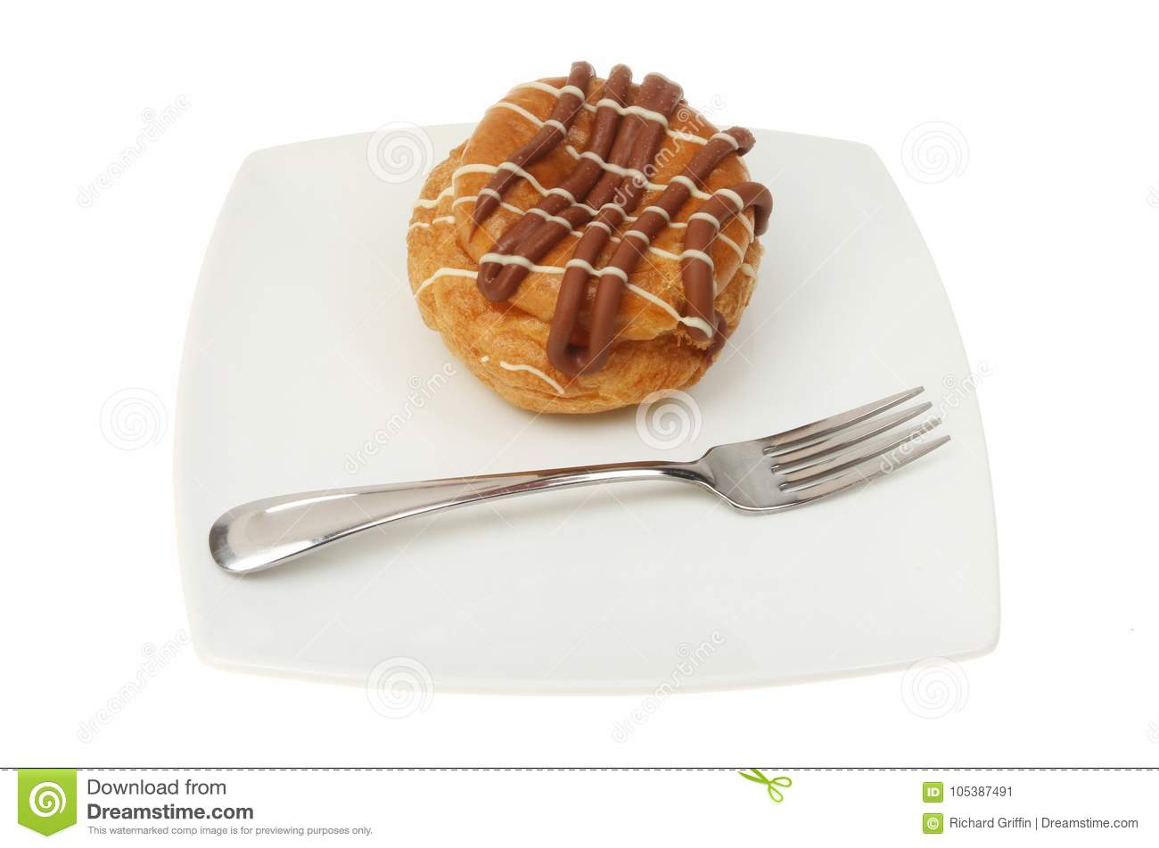 Choux bun on a plate