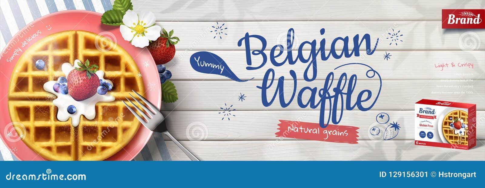 Brilliant Belgian Waffle Banner Ads Stock Vector Illustration Of Home Interior And Landscaping Sapresignezvosmurscom