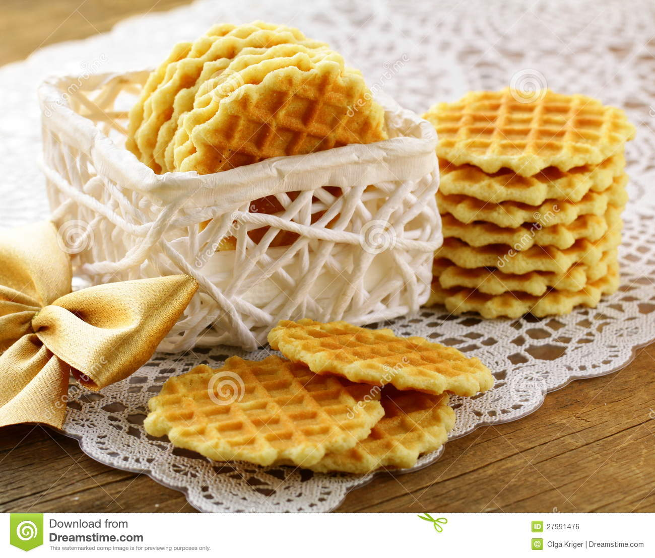 Belgian Waffles For Dessert Royalty Free Stock Image ...