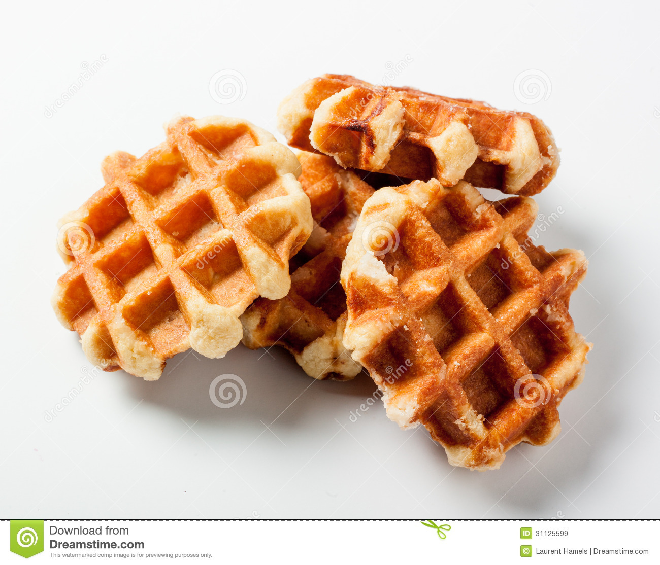 Belgian Waffles For Dessert Royalty Free Stock Images ...